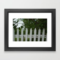 Picket Fence Framed Art Print