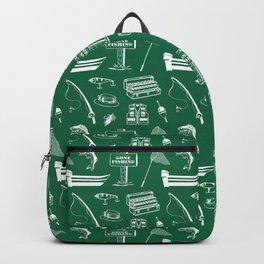 Gone Fishing // Jewel Green Backpack