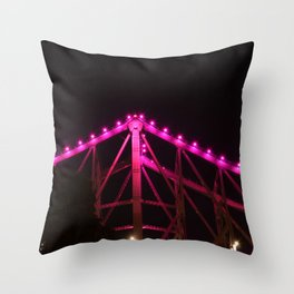 Pink Bridge Lights Throw Pillow