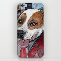 pit bull iPhone & iPod Skins featuring Pit Bull Joy Ride by WOOF Factory