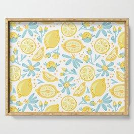 Lemon pattern White Serving Tray