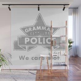 Grammar Police Wall Mural
