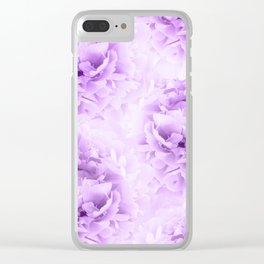 Purple Peonies Dream #2 #floral #decor #art #society6 Clear iPhone Case