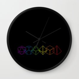 RPG Dice Rainbow color Wall Clock