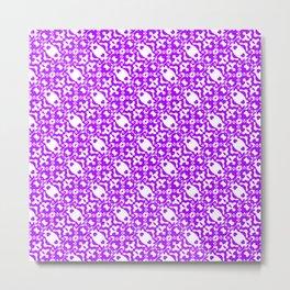 Wavy Purple Pattern 2 Metal Print