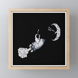 Astronaut On The Way To The Moon Gift Idea Design Framed Mini Art Print
