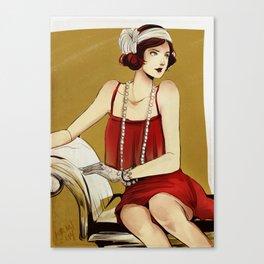 Flapper Girl #2 Canvas Print