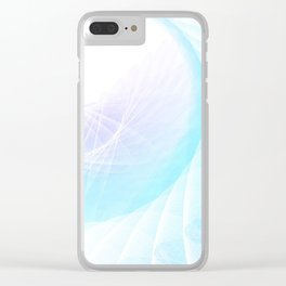 Spiral Wings Clear iPhone Case