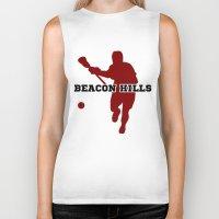 lacrosse Biker Tanks featuring Beacon Hills Lacrosse by Keyweegirlie