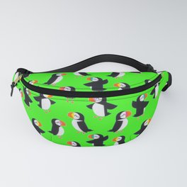 Puffin Green Pattern Fanny Pack