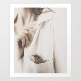 One Bird In My Pocket by Omerika Art Print