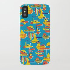Abstract Boats 1 iPhone X Slim Case