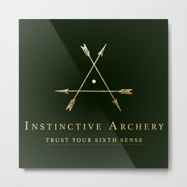 Instinctive Archery Metal Print
