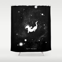 otter Shower Curtains featuring Otter Space by Tobe Fonseca