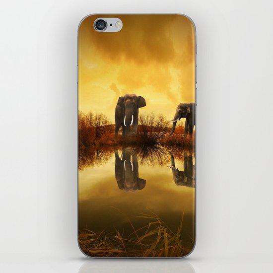 The Herd (Elephants) iPhone Skin