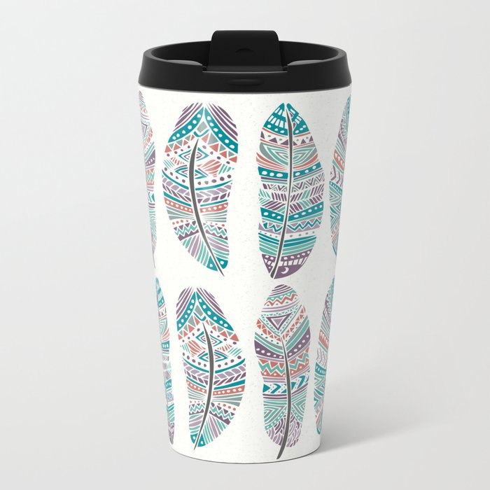 Feathers of Nature Metal Travel Mug