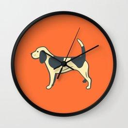 Orange Beagle Wall Clock