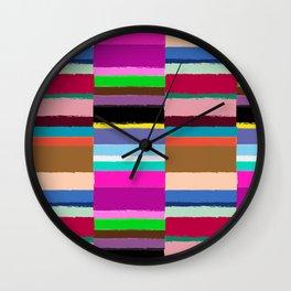 Tribal Stripe Kilim in Multi Wall Clock