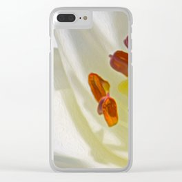 White Lily (Digital Art) Clear iPhone Case