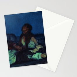 Lovers Under the Stars in a Summer Sky, Madrid, Spain by Frederico Beltran Masses Stationery Cards