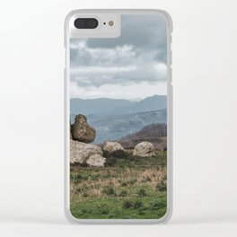 Point of view from Sicilian mountains Clear iPhone Case