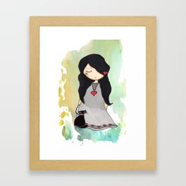 LADY CAT Framed Art Print
