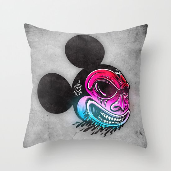 Evil Mickey 2 Throw Pillow