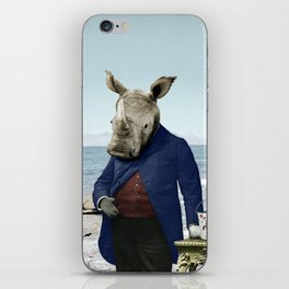 Mr. Rhino's Day at the Beach iPhone Skin