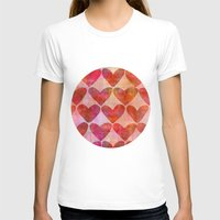 hearts T-shirts featuring Hearts by LebensARTdesign