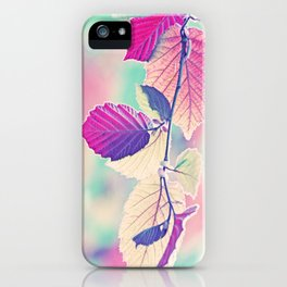New & Fresh Hazelnut Leaves iPhone Case
