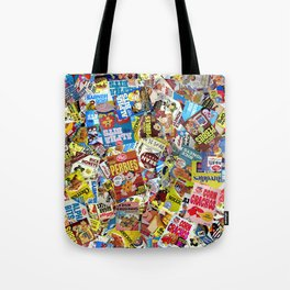 Cereal Boxes Collage Tote Bag