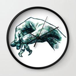 Lending a Hand Wall Clock