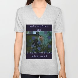 Pups and Bold Hair Unisex V-Neck