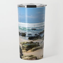 Beach and Rocks Travel Mug