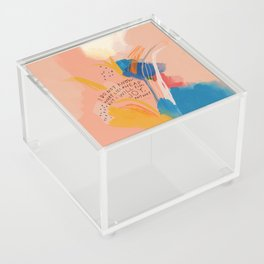 Find Joy. The Abstract Colorful Florals Acrylic Box