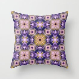Pink purple print. Abstraction. Throw Pillow