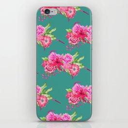 A FLORAL LOVE  (TURQ/LRG) iPhone Skin
