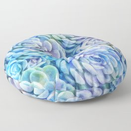 Rainbow succulents Floor Pillow