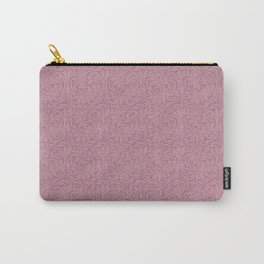 Gentle grey pink pattern . Dusty rose. Carry-All Pouch