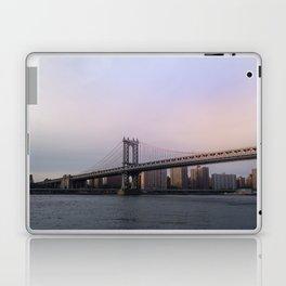 Manhattan Bridge at Sunset Laptop & iPad Skin
