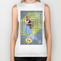 thrones Biker Tanks featuring Yellow brick road by Laura Nadeszhda