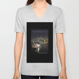 Sydney Night Lights Unisex V-Neck