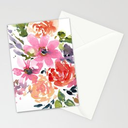 Pink and Purple Bouquet Stationery Cards