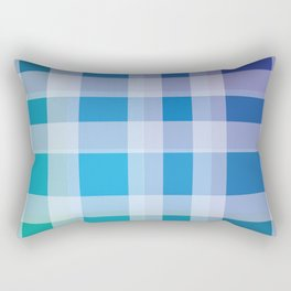 Green, Blue, Purple Plaid Rectangular Pillow