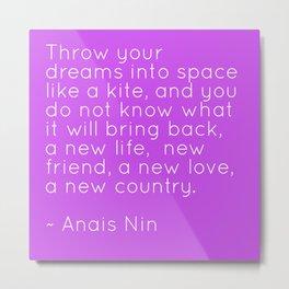 Anais Nin - Kite Metal Print