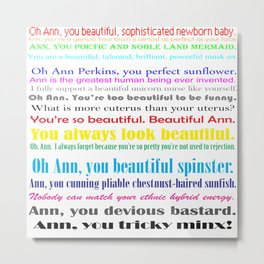 Compliments from Leslie to Ann Metal Print
