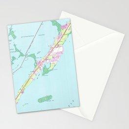 Vintage Rock Harbor Florida Map (1947) Stationery Cards
