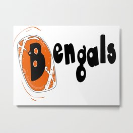 Bengals Fancy Football Font Metal Print