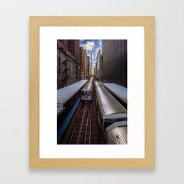"""Chicago """"L"""" Framed Art Print"""