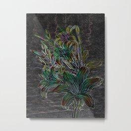 Variation of flowers - Night Metal Print